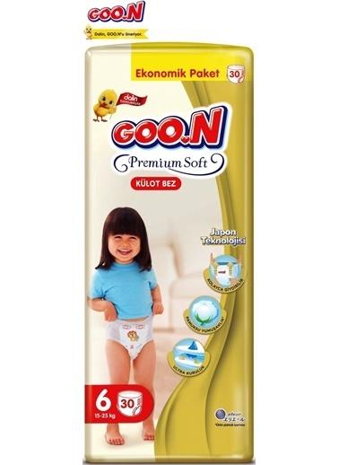 Goo.n Goon Premium Soft Külot Bebek Bezi No:6 30 Adet Beyaz